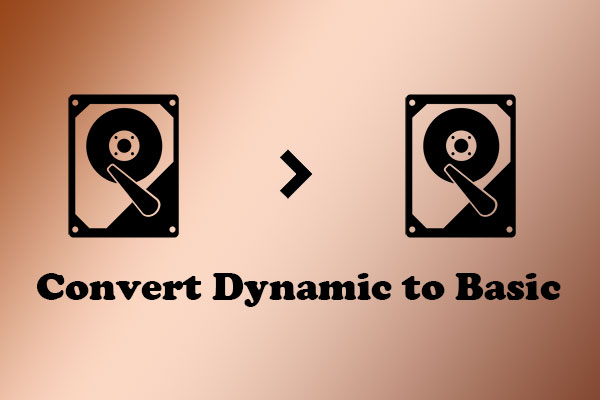 convert dynamic disk to basic