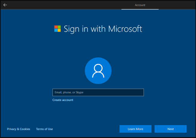you are prompted to sign in with Microsoft