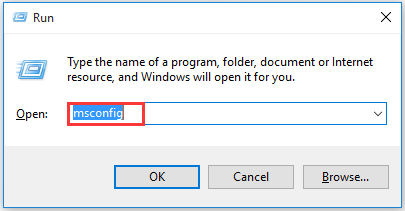open the System Configuration window