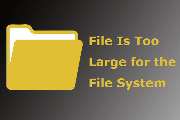 file is too large for destination file system