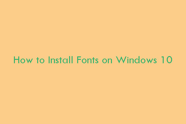 how to install fonts on win10 thumbnail