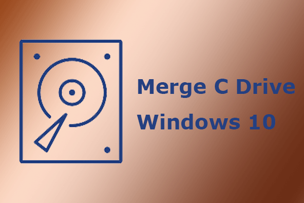merge C drive Windows 10