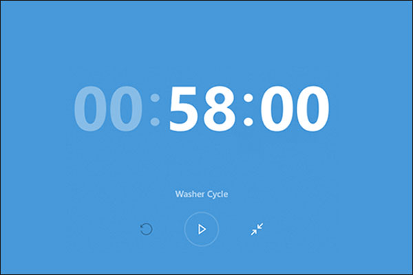 start Timer on Windows 10