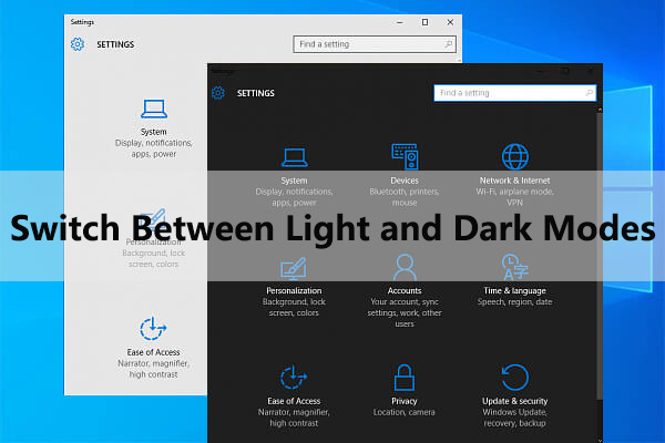 switch between light and dark modes automatically