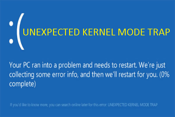 2 giải pháp khắc phục lỗi TRAP KEXEL MODE TRAP