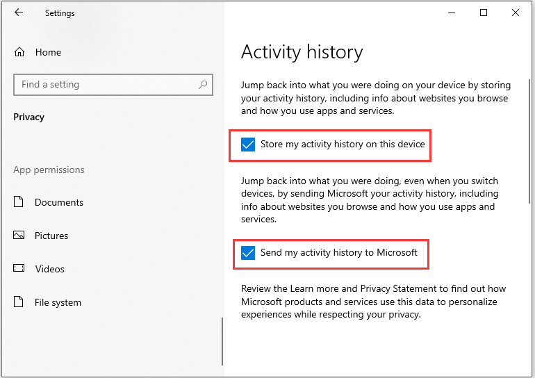check the box