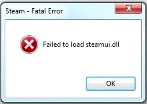 failed to load steamui.dll