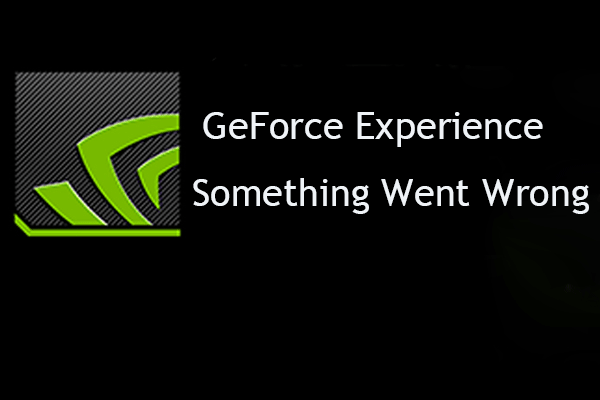 geforce experience something went wrong thumbnail