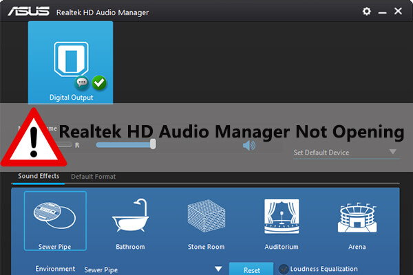 Realtek HD Audio Manager not opening