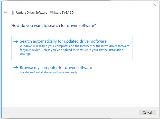 search for driver software