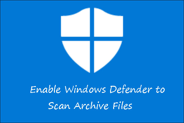 windows defender scanning archive files thumbnail