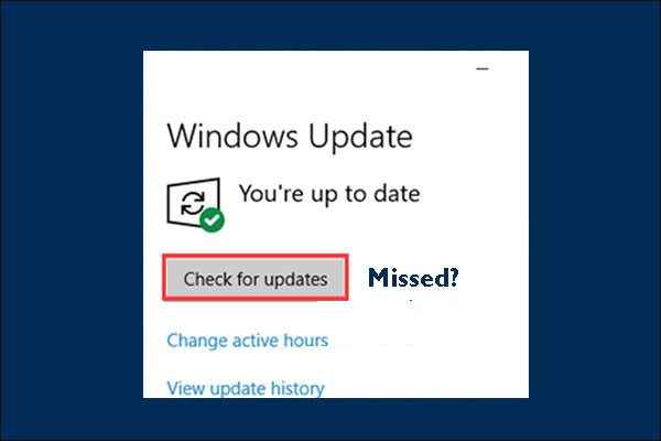 check for updates missing windows 10 thumbnail