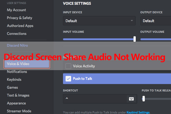Top 6 Solutions to Discord Screen Share Audio Not Working 2020