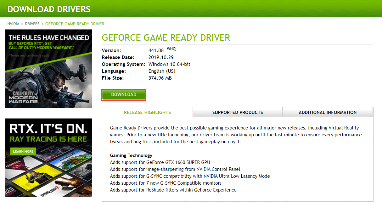 download your graphics driver