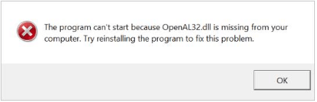 OpenAL32.dll is missing
