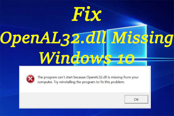 openal32 dll missing thumbnail
