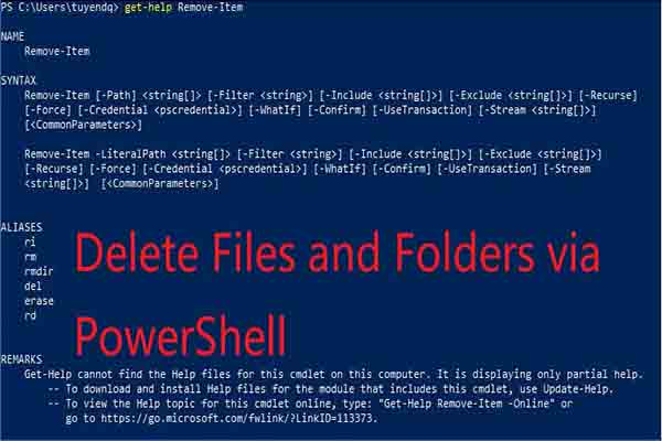 PowerShell delete file