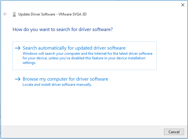 choose a way to update your device driver