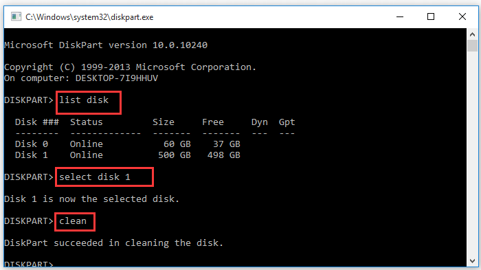the process of removing all partitions on the target disk