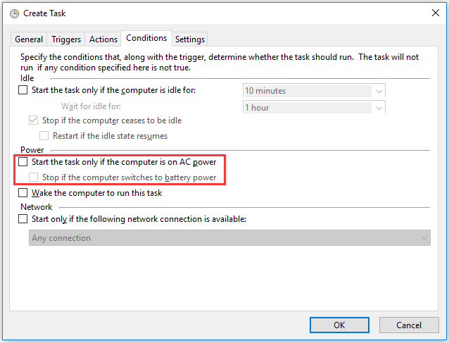 uncheck the mentioned options