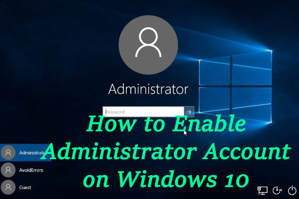 enable administrator account thumbnail
