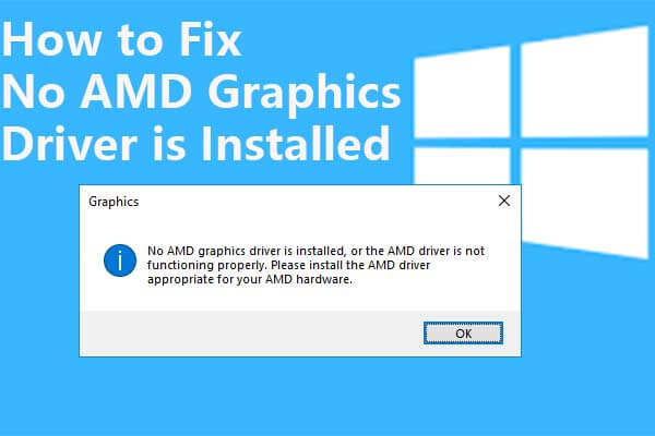 no amd graphics driver is installed thumbnail