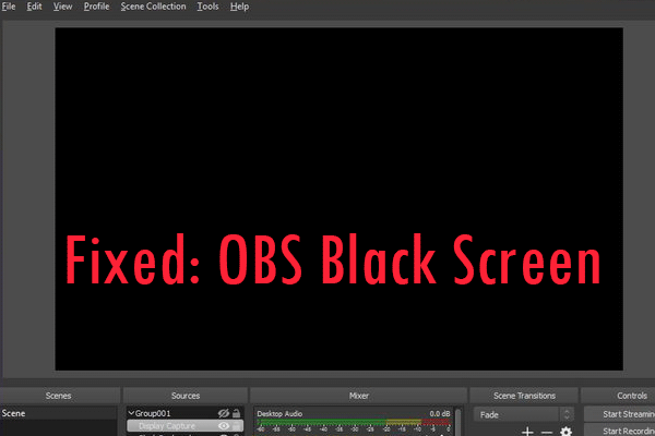 obs black screen thumbnail
