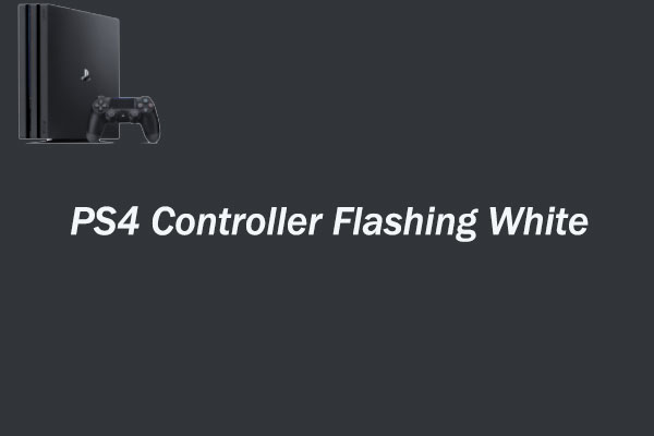 ps4 controller flashing white thumbnail