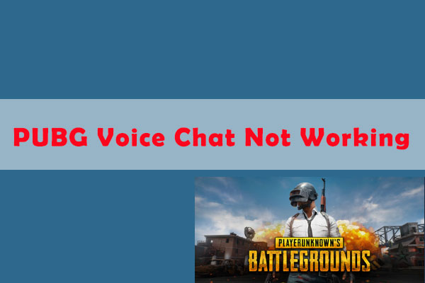 PUBG voice chat not working