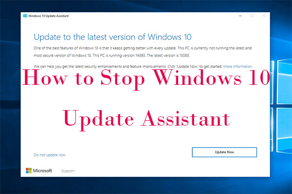 how to stop Windows 10 Update Assistant