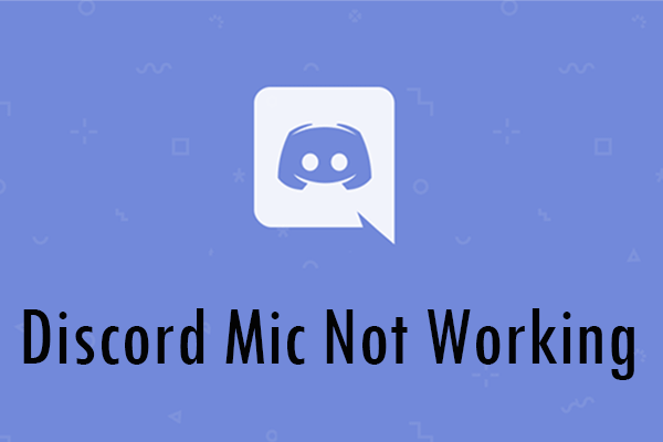 discord mic not working thumbnail