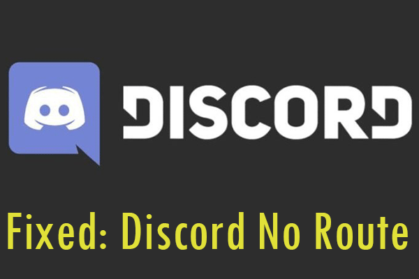 Discord No Route