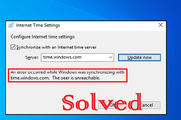 error occurred while Windows was synchronizing