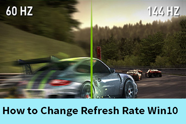 how to change refresh rate win10 thumbnail