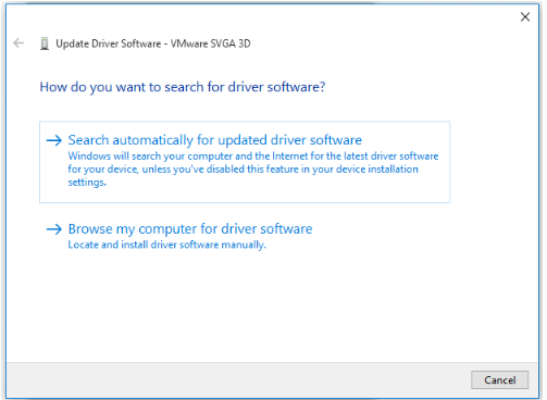 select a way to update your graphics card driver