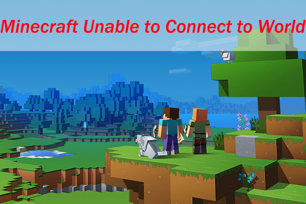 minecraft unable to connect to world thumbnail