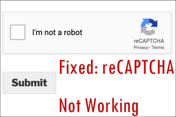 reCAPTCHA not working