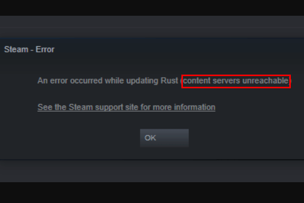 Steam content servers unreachable