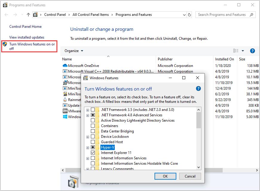 Enable Hyper V Windows 10 Home