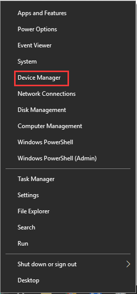 select the Device manager