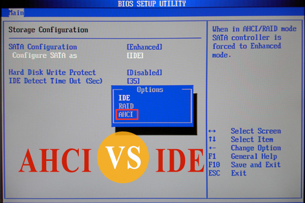 AHCI vs IDE: What's the Difference Between AHCI and IDE