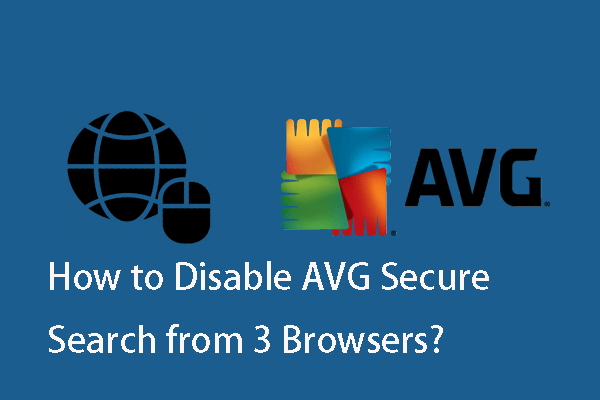 disable AVG Secure Search