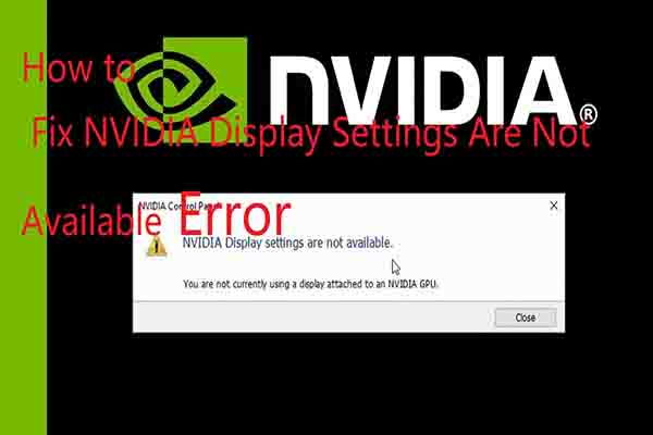 nvidia display settings are not available thumbnail