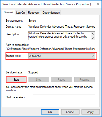 turn on Windows Defender services