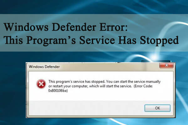 this program's service has stopped
