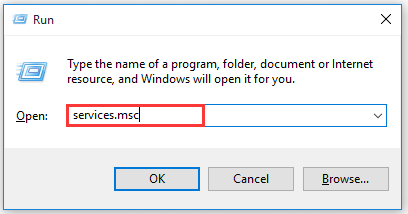 open service manager window