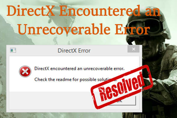 directx encountered an unrecoverable error thumbnail