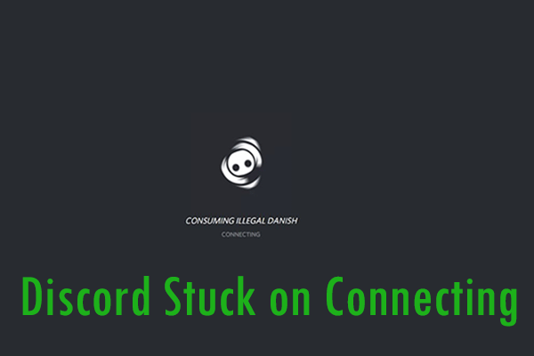 discord stuck on connecting thumbnail