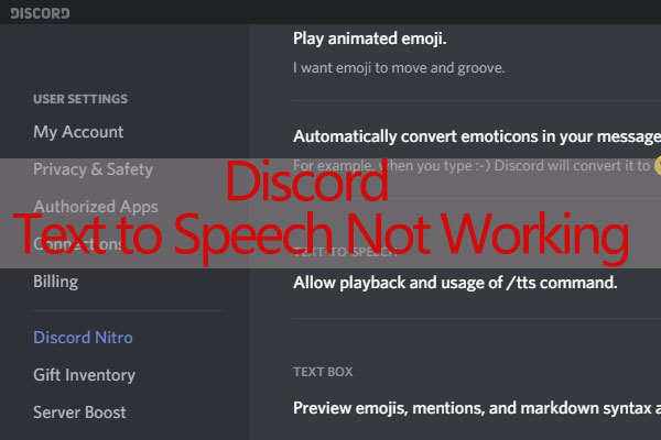 Speech to chat discord text Change Text