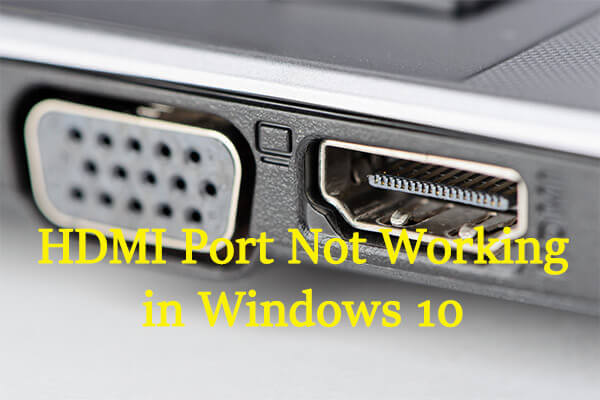 hdmi port not working thumbnail